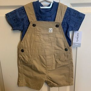 Carter's 2 piece Shorts Overalls